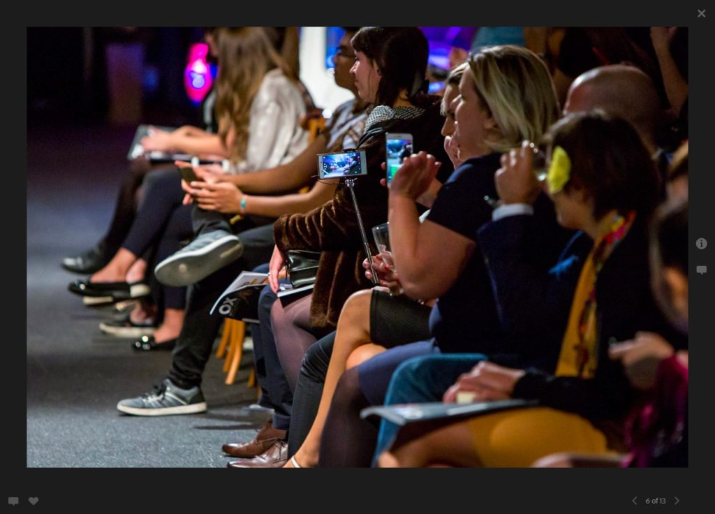 An image of The Real Oxford fashion show VIP front row of the audience