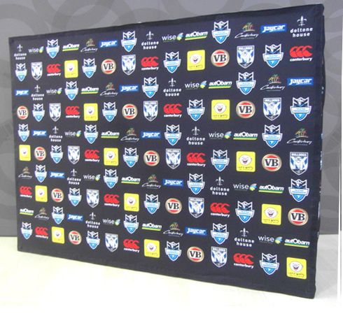 Logo step and repeat board